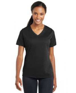 Sport-Tek® Ladies' PosiCharge® RacerMesh® V-Neck Tee
