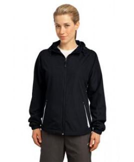 Sport-Tek® Ladies Colorblock Hooded Raglan Jacket
