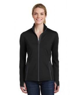 Ladies' Sport-Tek® Sport-Wick® Stretch Contrast Full Zip Jacket