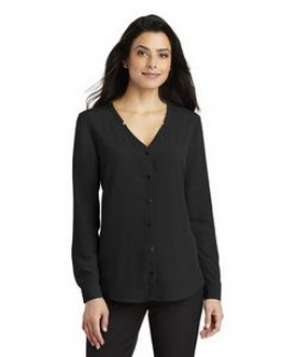 Ladies Port Authority® long Sleeve Button-Front Blouse