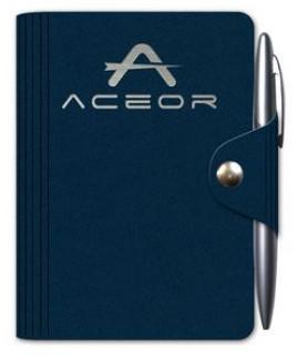"""Leather Wrap™ - Mini-Snap Wrap Journal w/Pen (3.75""""x5"""")"""