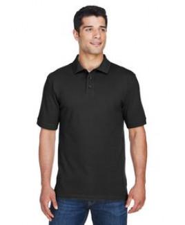 Harriton® Men's 6 Oz. Ring Spun Cotton Piqué Short Sleeve Polo Shirt