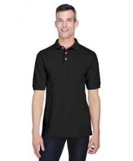 Harriton Men's 5.6 oz. Easy Blend? Polo withPocket
