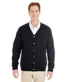 Harriton® Pilbloc™ V-Neck Men's Button Front Cardigan Sweater
