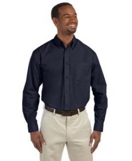 Harriton® Men's Tall 3.1 Oz. Essential Poplin Dress Shirt