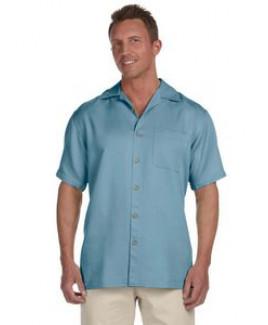 Harriton® Men's Bahama Cord Camp Shirt