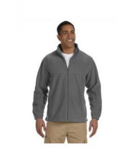 Harriton Men's Tall 8 oz. Full-Zip Fleece