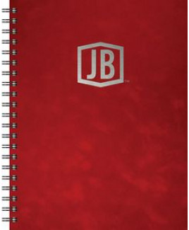 """Luxury Cover Series 4 - Large NoteBook w/Black Paperboard Back Cover (8.5""""x11"""")"""