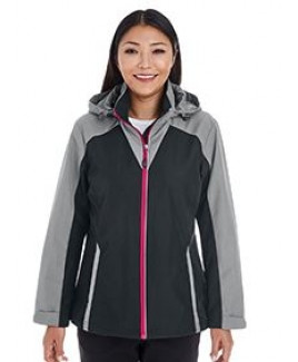 NORTH END Ladies' Embark Interactive Colorblock Shell with Reflective Printed Panels