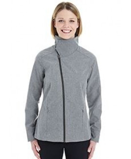 North End® Ladies' Edge Soft Shell Jacket w/Fold Down Collar