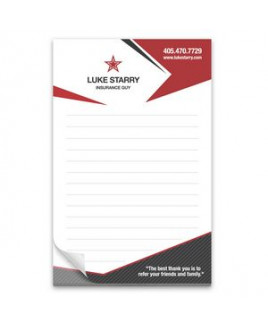 25 Page 5-1/2 x 8-1/2 Paper Note Pad 4CP
