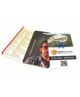 "3.5"" x 5"" Laminate Cardstock Lanyard Card - 5 mm"