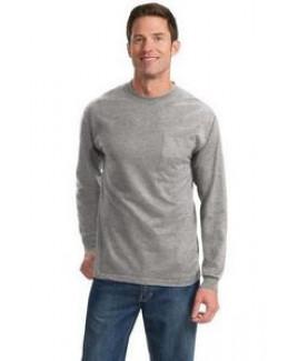 Port & Company® Men's Long Sleeve Essential Tall Pocket T-Shirt