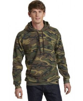 Port & Company® Core Fleece Camo Pullover Hooded Sweatshirt