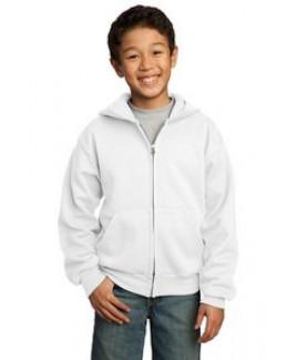 Port & Company® Youth Core Fleece Full Zip Hooded Sweatshirt