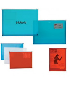 Zip Closure Envelope with Business Card Slot