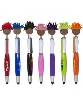Multi-Cultural MopToppers® Screen Cleaner w/Stylus Pen (Brown Skin Color)