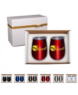 Duo Vacuum Stemless Wine Tumbler Gift Set