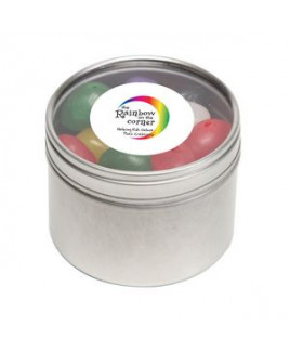 Standard Jelly Beans in Small Round Window Tin