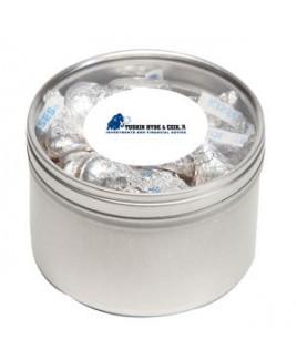 Hersheys® Kisses® in Lg Round Window Tin
