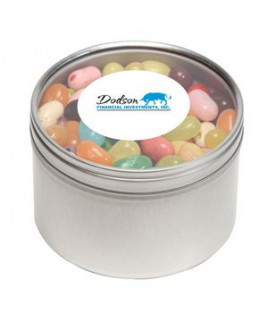 Jelly Belly® Candy in Lg Round Window Tin