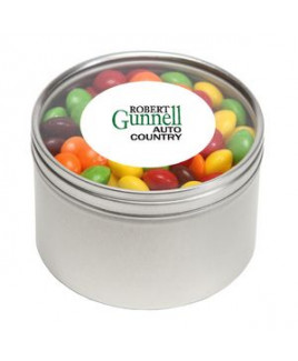 Skittles® in Lg Round Window Tin
