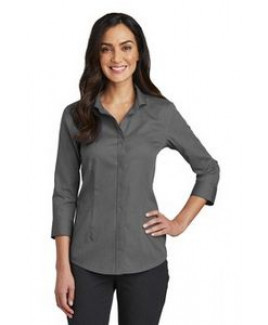 Ladies' Red House® 3/4 Sleeve Nailhead Non-Iron Shirt