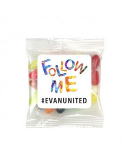 Square Magnet w/ Mini Bag of Jelly Belly® Candy
