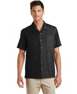 Men's Port Authority® Textured Camp Shirt