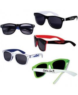 Two-Tone Glossy Sunglasses