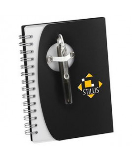 "4"" x 5.5"" Tribune Spiral Notebook w/ Pen"