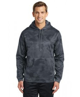 Adult Sport-Tek® Sport-Wick® Camohex Fleece Hooded Pullover