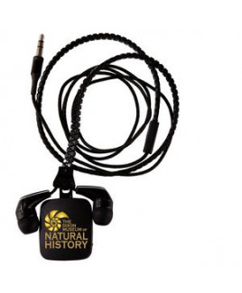 Zipper Ear Buds with Pull - Black
