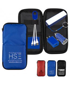 """""""TravPouch Plus"""" Cell Phone Charger Travel Kit w/Tech Components"""