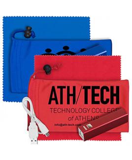 """""""DaySaver"""" Mobile Tech Metal Power Bank Kit in Cinch Pouch"""