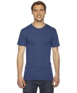 American Apparel Unisex Triblend USA Made Short-Sleeve Track T-Shirt