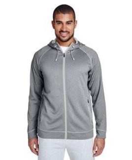 Team 365® Men's Excel Mélange Performance Fleece Jacket