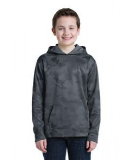 Youth Sport-Tek® Sport-Wick® Camohex Fleece Hooded Pullover