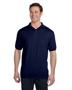 Hanes Printables Adult 5.2 oz., 50/50 EcoSmart® Jersey Pocket Polo