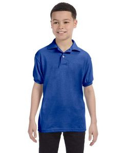 Hanes Youth 5.2 Oz. 50/50 EcoSmart® Jersey Knit Polo Shirt