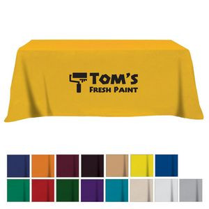 Flat Poly/Cotton 3-sided Table Cover - fits 8' standard table