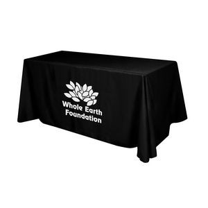 Flat Polyester 4-Sided Table Cover - fits 6' standard table