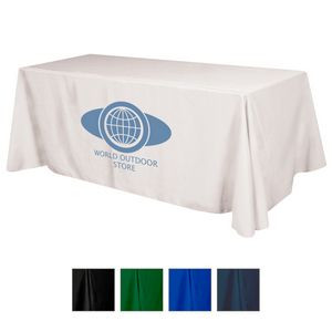 Flat Polyester 4-Sided Table Cover - fits 8' standard table