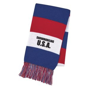 Patriotic Knit Scarf
