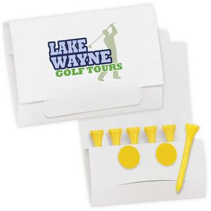 "BIC Graphic® 6-2 Golf Tee Packet - Value Pak w/2 1/8"" Tees"