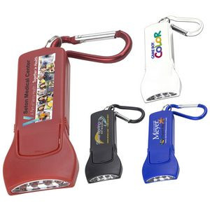 """""""Beamer"""" 4 LED Keyholder Keylight w/Carabiner Clip (Photoimage Full Color)"""