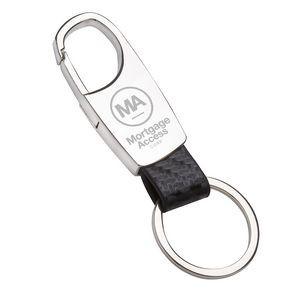 """Monza"" Laser Engraved Metal Keyholder (Overseas)"