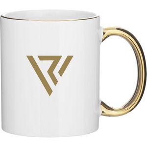 11oz C-Handle Mug - Metallic (White Gold)