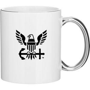 11oz C-Handle Mug - Metallic (White Platinum)
