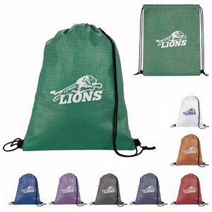 GoodValue® Non-Woven Shimmer Drawstring Backpack